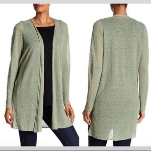 NWT $278 Eileen Fisher Simple Knit Cardigan Green